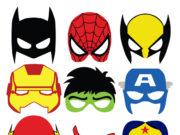 Descargar gratis mascaras de superhéroes para disfraz de Carnaval