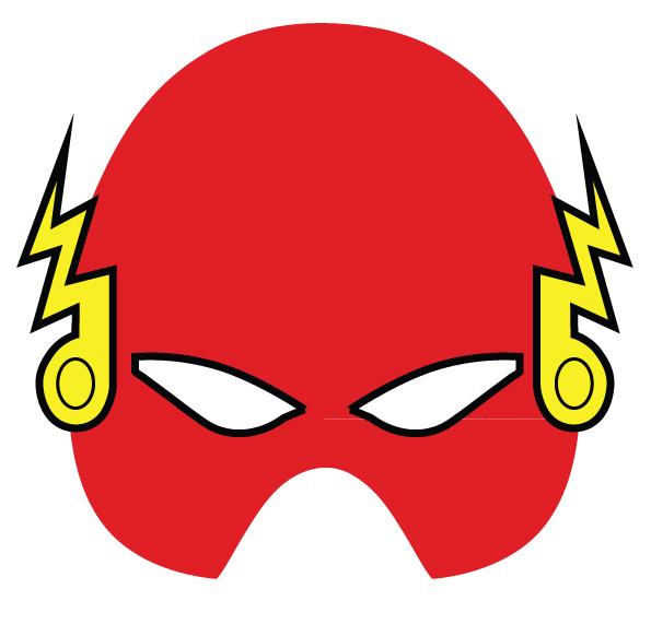 Mascara del super héroe de Marvel Flash