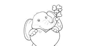 Pintar y colorear flores y corazones para regalar en San Valentín