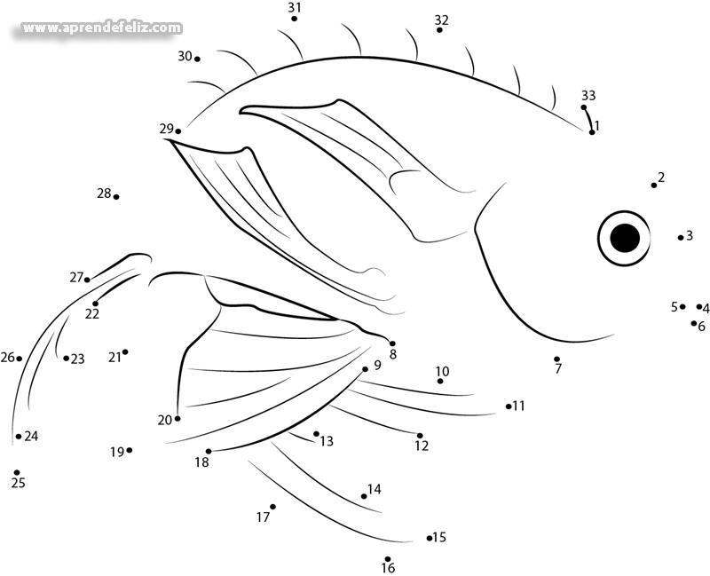 Vamos a aprender a contar mientras dibujamos este espectacular pez de mar
