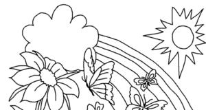 Dibujos de la primavera para pintar y colorerar