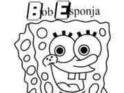 Dibujos de Bob Esponja para colorear y pintar