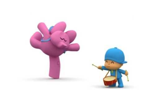 Hoy se va a montar una buena orquestina en el capítulo de los dibujos animados de Pocoyó