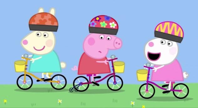 Ver capitulo 12 de Peppa Pig - bicicletas - Pepa aprenderá a montar sin ruedines