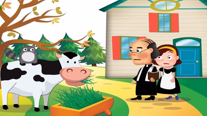 Los ladrones intentan robar al cura y Pulgarcito termina en el estómago de una vaca