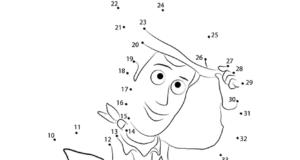 Imprime , dibuja y colorea los dibujos de Toy Story uniendo los puntos