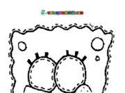 Caretas de Bob Esponja para colorear, recortar y disfrazarte