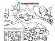 Dibujos del otoño para pintar y colorear