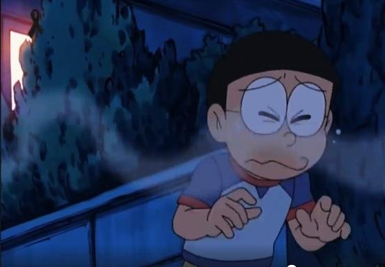 ¿ Entenderá Nobita la importancia de comerse toda la comida ?