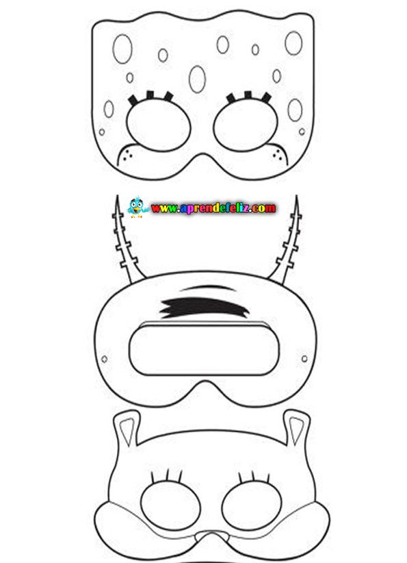 Máscaras de Bob Sponja, Arenita y Plankton