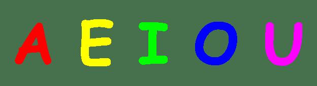 Las 5 Vocales en letra Mayúscula