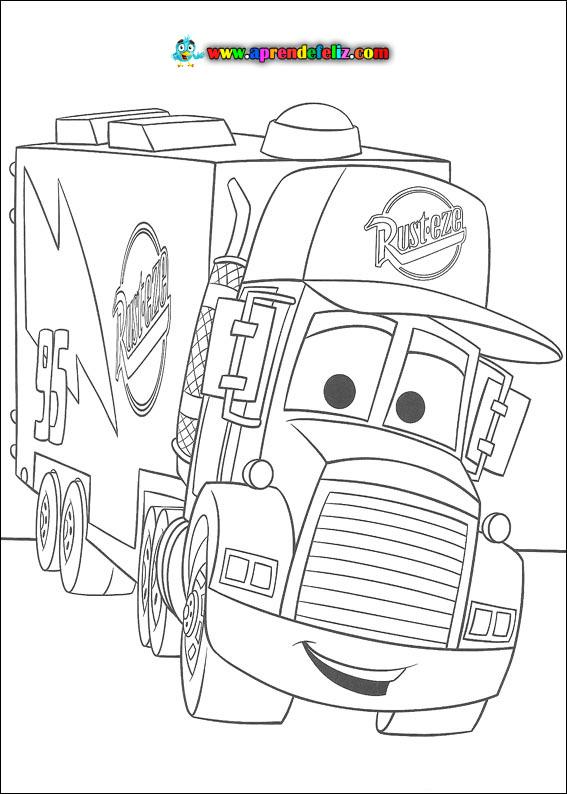 Descarga el dibujo del camión de Cars, Max, y coloréalo a tu gusto