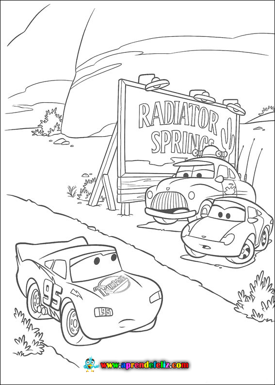 Dibujos para colorear de cars - Radiador Springs