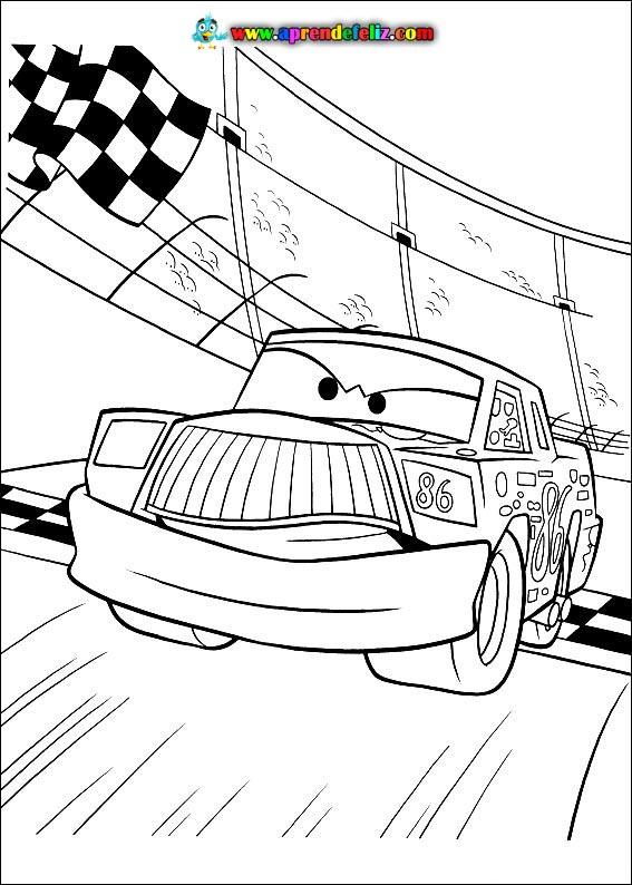 Personajes de Cars para colorear - Chick Hicks (rival de Rayo en la Copa Pistón)