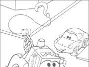 Pinta y colorea bonitos dibujos de Cars - Mater y Rayo McQueen